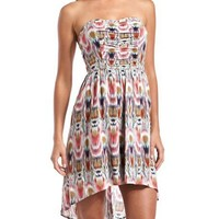 Strappy-Back Hi-Low Tube Dress: Charlotte Russe