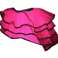 HOT PINK  BACHELORETTE BUSTLE PEACOCK TUTU BURLESQUE DANCE PARTY HALLOWEEN