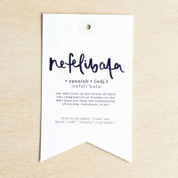 Emma Kate Co. | Gift Tag | Nefelibata