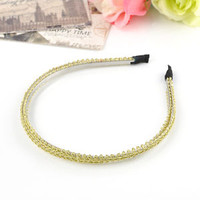 Fashion Women Lady Metal Crystal Headband Head Piece Hair Band Jewelry
