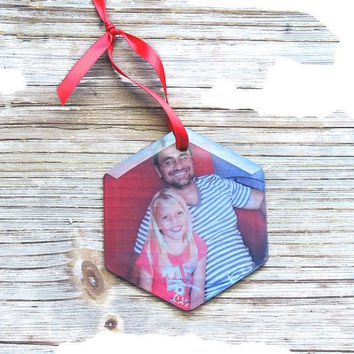 Glass Personalized ornament, christmas ornament, photo ornament, tree ornament, stocking stuffer, holiday ornament, personalized gift