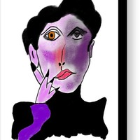 Picasso Woman 10 Canvas Print / Canvas Art by Bill Owen