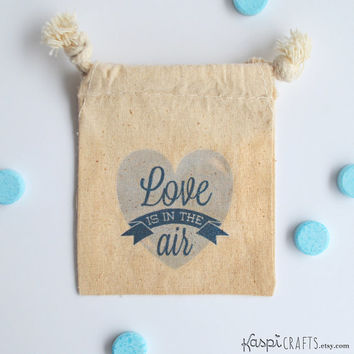 Love is in the air, wedding favor bags, custom favor bags, pack of 10