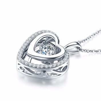 Women's Heart Shaped Pendant Necklace