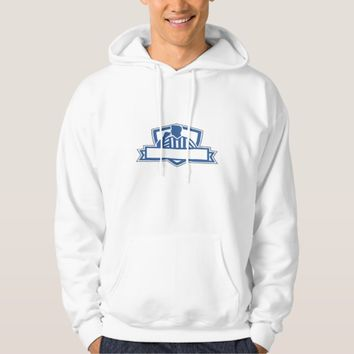 Referee Umpire Official Hold Whistle Crest Retro Hoodie