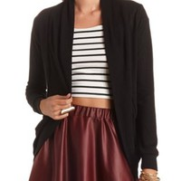 Long Sleeve Cocoon Cardigan by Charlotte Russe