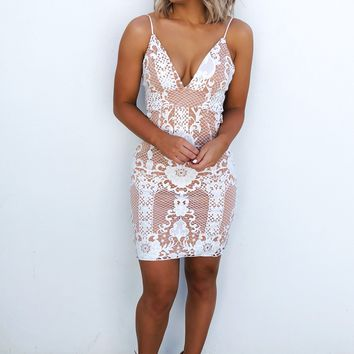 Getting A Hubby Dress: White/Nude