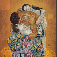 The Family Stretched Canvas Print by Gustav Klimt at AllPosters.com