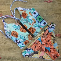 2017 Trending Fashion Women Hollow Bandage Criss Cross Back Zipper Bikini Swim Suit Beach Bathing Suits Swimwear _ 12937