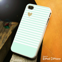 Minimal Mint Stripes iPhone 4 5 5c 6 Plus Case, Samsung Galaxy S3 S4 S5 Note 3 4 Case, iPod 4 5 Case, HtC One M7 M8 and Nexus Case