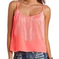 NEON SWING FRINGE CROP TOP