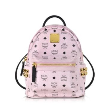 MCM Designer Handbags Chalk Pink Extra Mini Stark Backpack