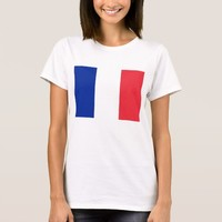 Women T Shirt with Flag of France