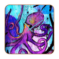 Sophia Buddenhagen Purple Octopus Custom Clock