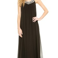 Diane von Furstenberg Willemma Crystal Neck Dress