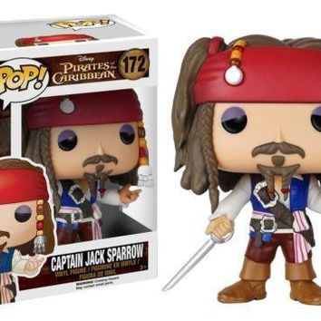 new Funko Pop Pirates of the Caribbean Captain Jack Sparrow 172 vinyl figure box