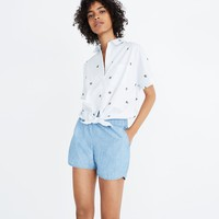 Chambray Pull-On Shorts : shopmadewell more denim dressing | Madewell