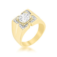 Regal Golden Mens Ring