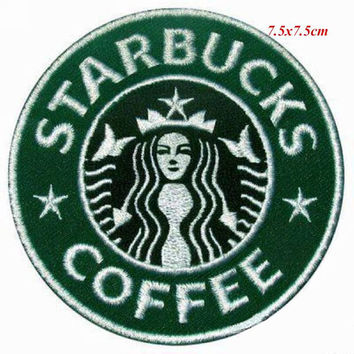 Starbucks Patch Starbucks Iron On Starbucks Birthday Starbucks Gift NOT Starbucks embroidery design Starbucks applique design