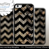 Monogram iPhone 5C 6 6 Plus Case Camo Black Chevron iPhone 5s iPhone 4 case Ipod 4 5 case Real Tree Personalized Country Inspired Girl