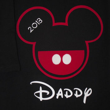 Red Black Minnie Mouse Mickey Mouse -Disney Birthday Family Custom T-Shirt Personalized Applique