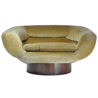 Wide Lounge Chair with Rosewood Base