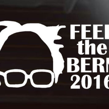 Feel The Bern, - Bernie Sanders, - Car Decal, - Election, - 2016
