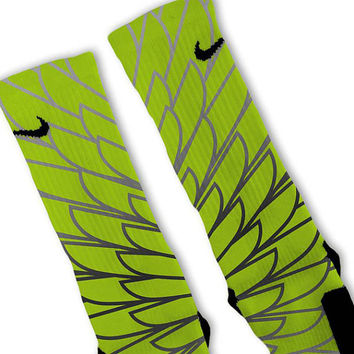 Wings 3 Customized Nike Elite Socks Fast Shipping!