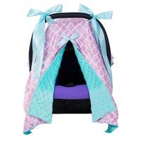 Baby Feeding Cover Breastfeeding Scarf with Bow Infant Multi-use Blanket Cover Car Sear Canopy for Baby Nursing Cover 4Colors