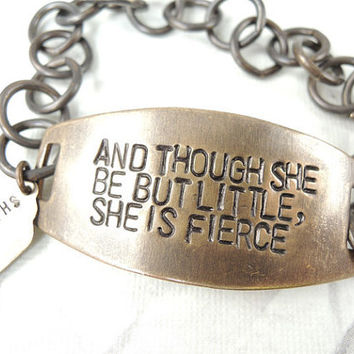And Though She be but LIttle She is Fierce by CobwebCorner on Etsy