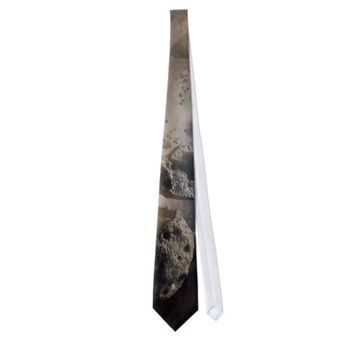 Asteroid in space custom ties