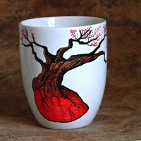 Handpainted  Mug  love Root by Artisvast on Etsy