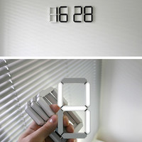 Black & White Clock by Vadim Kibardin - Home - Creature Comforts - daily inspiration, style, diy projects + freebies