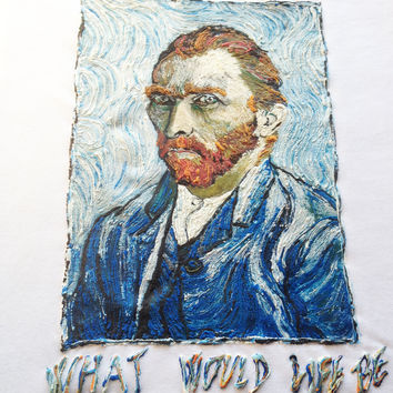 VINCENT VAN GOGH   T-shirt Painting 3d with quote