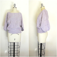 Vintage 1970s Lavender Beaded Sweater