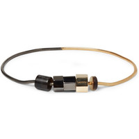 Lanvin Gold and Ruthenium-Plated Bracelet | MR PORTER