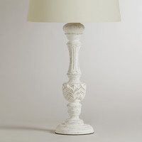 Klara Antique Candlestick Table Lamp Base - World Market