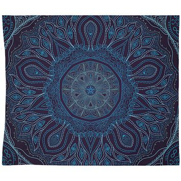 Navy Blue Mandala Boho Wall Tapestry Hippy Yoga Meditation Mandala Wall Hanging