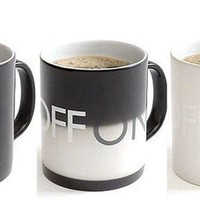 On Off Temperature Controlled Mug Heat Sensitive Mug by ClothLess