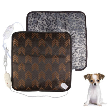 High Quality Classic Pet Dog Cat Waterproof Electric Heating Pad Heater Warmer Mat Bed Blanket PTSP