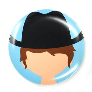 Cowboy Food Face Plate