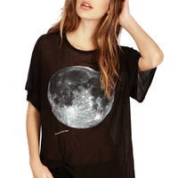 Moon Pattern Short Sleeve T-Shirt