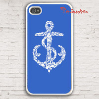 iPhone 4 Case, iphone 4s case, Nautical anchor  iPhone 4 Case, palette Design iphone hard case for iphone 4, iphone 4S