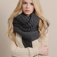 Cyber Monday Charcoal Chunky Infinity Scarf