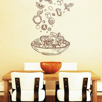 ik2808 Wall Decal Sticker dish plate food restaurant snack