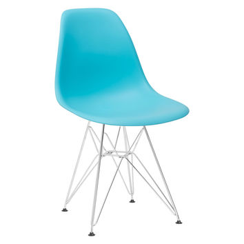 Padget Side Chair in Aqua