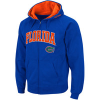Men's Stadium Athletic Royal Florida Gators Arch & Logo Full Zip Hoodie