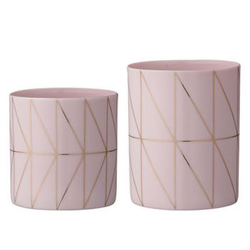 Bloomingville Votives In Pink And Gold One Pair