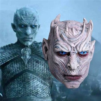 MDIG4F New Game of Thrones Cosplay Night's King Mask Walker Face Night Re Zombie Mask Halloween Adults Throne Costume Party Accessory