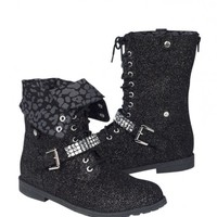 Glitter Foldover Moto Boots | Girls New Arrivals Features | Shop Justice